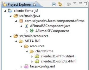 Estructura componente JSF